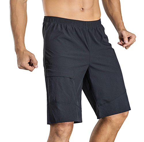 Przewalski Basics Men's MTB Mountain Bike Cycling Shorts with Padded Underliner - Two Shorts in One.