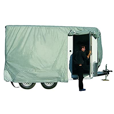 Image of ADCO 46005 SFS Aqua-Shed Bumper-Pull Horse Trailer Cover - 16'1' to 18' RV & Trailer Covers