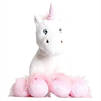 Unicornio Blanco Con Zuecos Chispeantes 25cm Kit Para Realizar