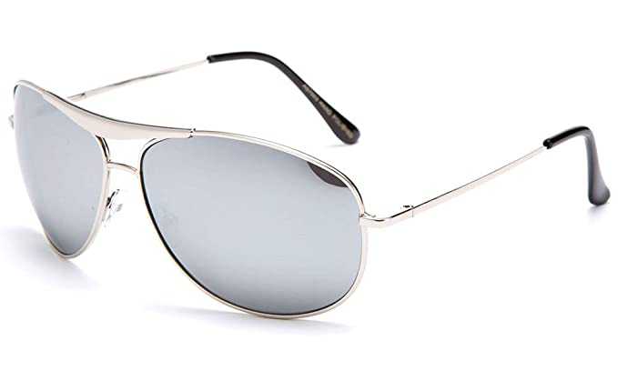 50d020a4b Image Unavailable. Image not available for. Colour: Men's Aviator Style Oversized  Thick Metal Frame Sunglasses ...