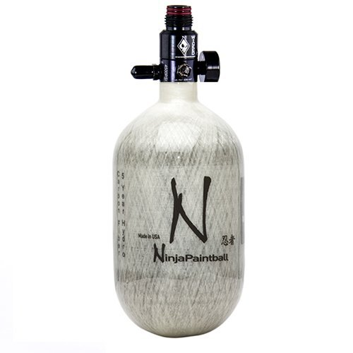 Ninja Carbon Fiber HPA Tank - 68/4500 - Grey (Best Carbon Fiber Paintball Tank)
