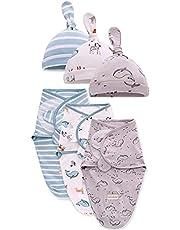 Swaddle Blanket Baby Girl Boy Easy Adjustable 3 Pack Infant Sleep Sack Wrap Newborn Babies, Large