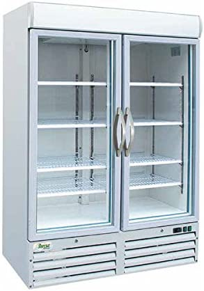 Armario congelador con doble puerta de cristal 1078 LT. Temp. -18 ...