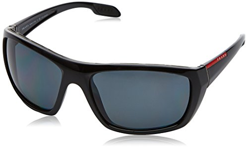 Prada Linea Rossa  Men's 0PS 06SS Black/Polarized Grey - Prada Rossa Sunglasses Linea
