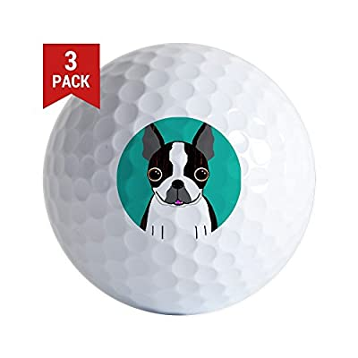 CafePress - Boston Terrier (Dark Brindle) - Golf Balls (3-Pack), Unique Printed Golf Balls