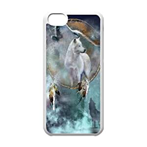 C-EUR Print Wolf Dream Catcher Pattern Hard Case for iPhone 5C