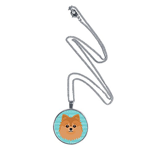 Pomeranian Pendant (Mystic Sloth Dog Breed Specific Pendant Necklace with 18
