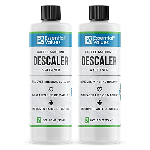 Keurig Descaler, Universal Descaling Solution For Keurig, Delonghi, Nespresso And All Single Use, Coffee Pot & Espresso Machines By Essential Values
