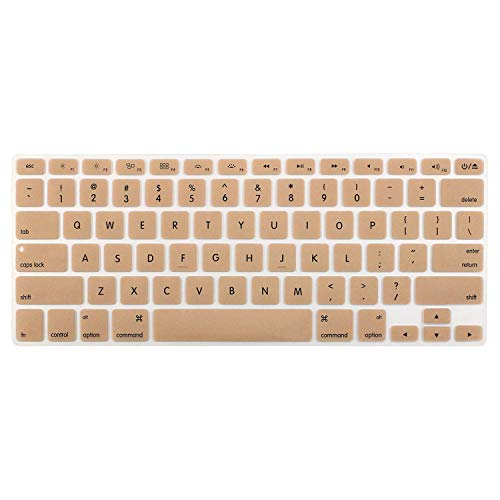 Saco Silicone Keyboard Protector Skin Cover for Apple MacBook Air Mac MD232HN/A   13.3 inch Laptop   Gold