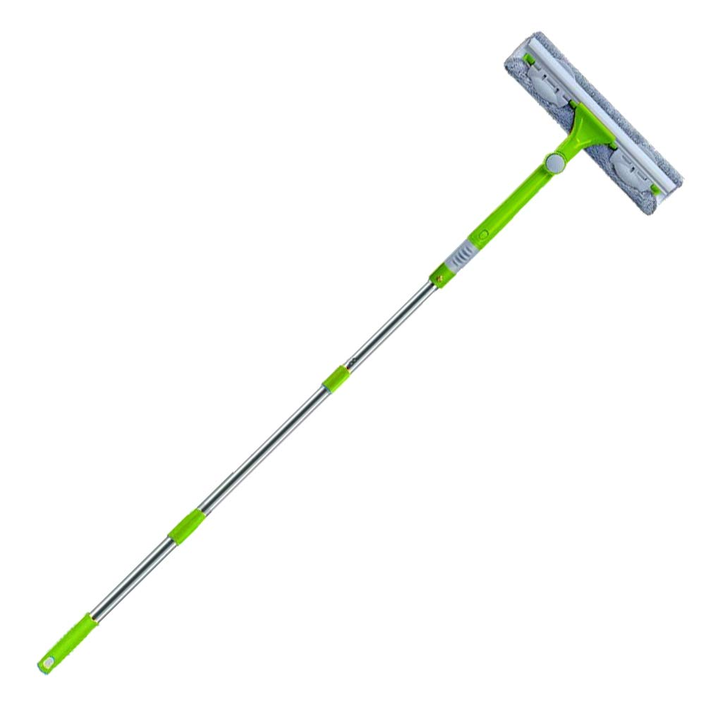 IKU Professional Long Extendable 3-in-1 Window Squeegee Cleaner (Green)