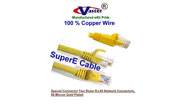 100 Foot Cat 6 Patch Cable Yellow Network Ethernet Cable