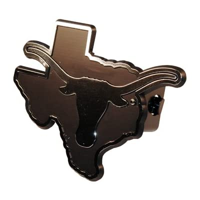 Texas Longhorns Silver Trailer Hitch Cover: Automotive