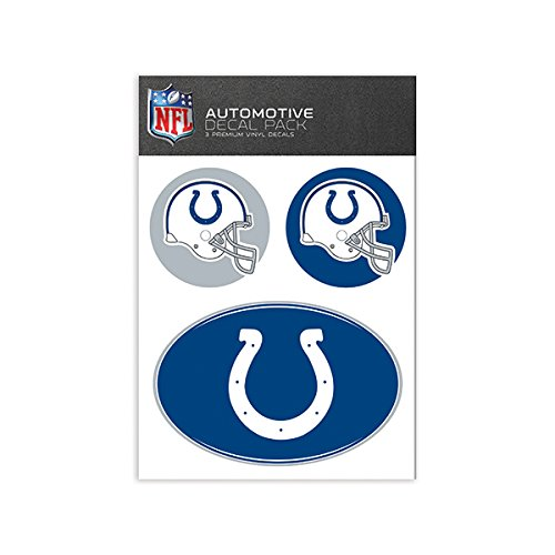 Nfl Indianapolis Colts Decal - NFL Indianapolis Colts Medium Decal Pack