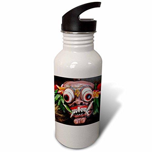 [3dRose Danita Delimont - Masks - Indonesia, Bali. Barong ceremonial performance mask decorated, - Flip Straw 21oz Water Bottle] (Demonic Masks)