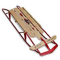 """Flexible de Flyer Metal Runner Trineo. Deslizante de nieve para dirección de acero y madera, 48 """""""