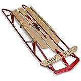 Flexible Flyer Metal Runner Sled. Steel & Wood Steering Snow Slider