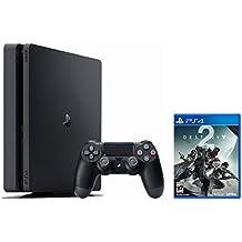 PS4Slim paquete (2artículos): PlayStation 4Slim 1TB Jet Negro y Destiny 2disco de juego