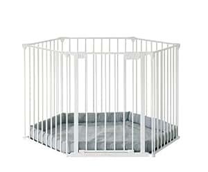 Baby Dan -10400-1220-17-85 Park a Kid - Parque de juegos (diámetro 124 cm), color blanco
