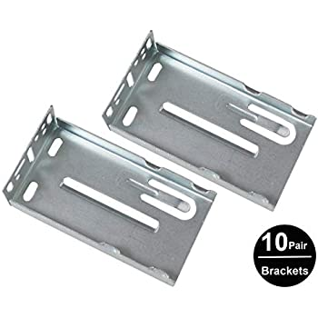 Gobrico 10pair Rear Under Mounting Brackets For Drawer