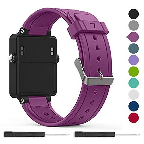 for Garmin vivoactive Band,EasyJoy Soft Silicone Replacement Band for Garmin vivoactive Smart Watch,Not fit Garmin vivoactive hr (Purple)