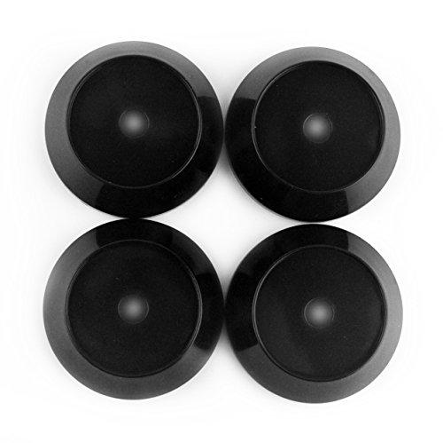 65mm(2.56in)/60mm(2.36in) Black Car Wheel Center Hub Caps Set of 4 for Work Emotion XT7 TSW Wheel Rays TE37 CE28N (Work Emotion Rims)