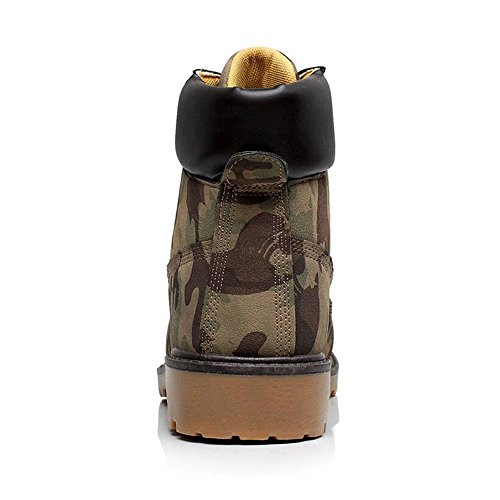 Men Combat Boots Combat Boots - hibote Worker Boots Outdoor Shoes Cowboys Boots Warm Lined Ankle Boots Camouflage 8Kc5EYpK
