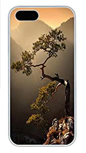 iPhone 5 5S Case Rugged Tree PC Custom iPhone 5 5S Case Cover White