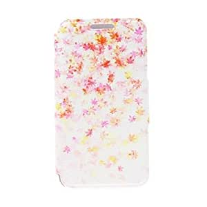 DUR Kinston Maple Leaf Pattern PU Leather Cover for iPhone 6