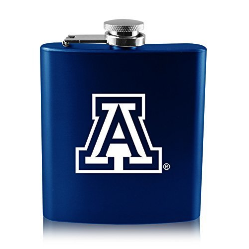 LXG, Inc. University of Arizona -6 oz. Color Stainless Steel Flask-Blue ()