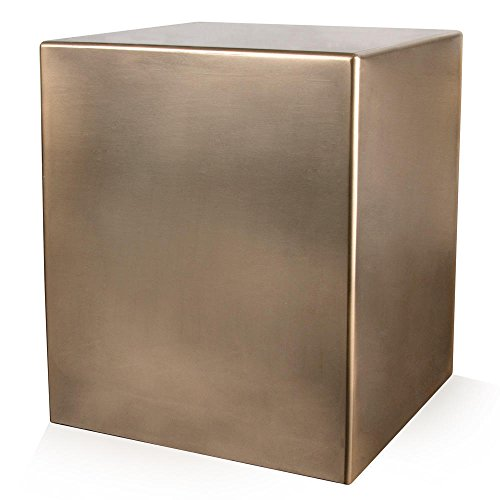 Perfect Memorials Seamless Bronze Cube Resin Cremation Urn