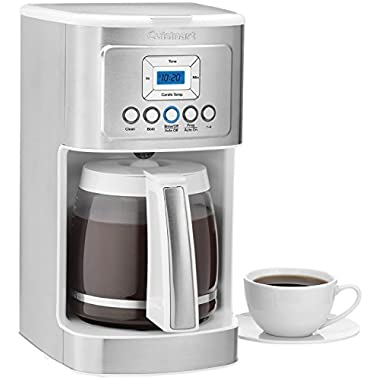 Cuisinart DCC-3200W 14-Cup Programmable Coffeemaker - Stainless Steel/White, White