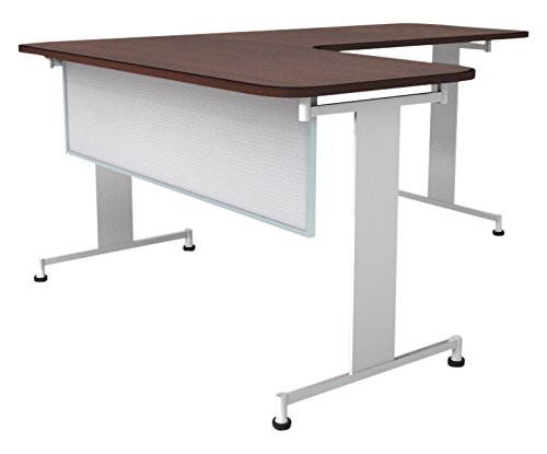 Obex 24X30P-A-W-MP 24'' Polycarbonate Desk and Table Mounted Modesty Panel, White, 24'' x 30''