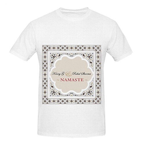 Kenny G Namaste Greatest Hits Mens Crew Neck Design Shirts White (100 Firearms Greatest)