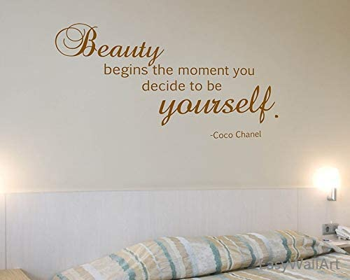Amazon Com Ceciliapater Coco Chanel Wall Decal Coco Chanel Quotes For Living Room Vinyl Coco Chanel Decal Wall Art Decor Bedroom Chanel Wall Lettering Sticker Q11 Home Kitchen