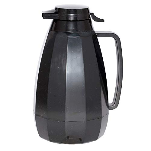 Service Ideas NG421BL 2-liter Coffee Server w/Push Button Lid, Black (Button Server Black Push)
