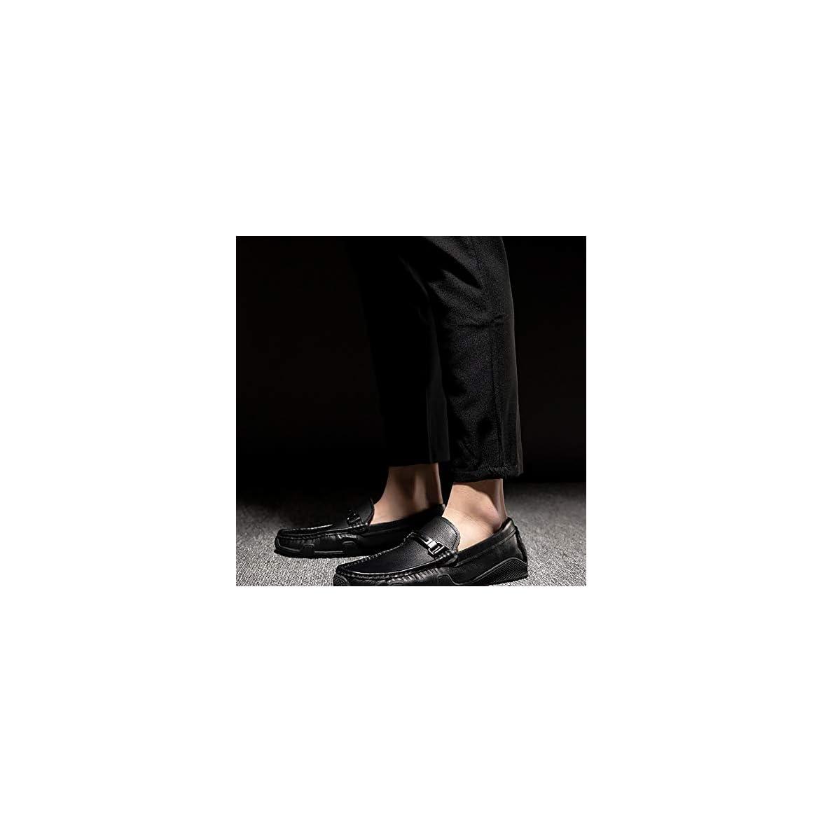 Gpf-fei Scarpe Da Uomo Mocassini Business Scarpa Pigro Punta Rotonda Piselli Moda Confortevole Traspirante Tempo Libero black 41