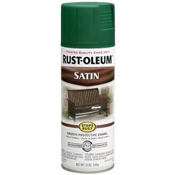 Rust-Oleum 7732830 Satin Enamel Spray, 12-Ounce, Hunter Green
