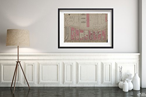 1930 Map of New York Plate 69, Part of Section 4 G.W. Bromley & Co.|Vintage Fine Art Reproduction|Ready to Frame