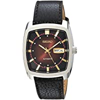 Seiko SNKP25 Recraft Leather Automatic Men's Watch