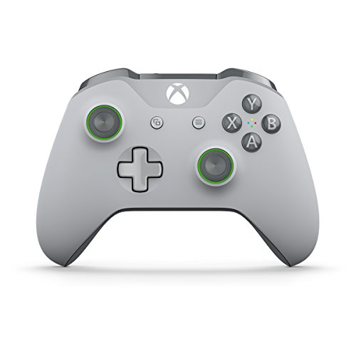Xbox Wireless Controller - Grey/Green (Xbox 360 Gray Controller)