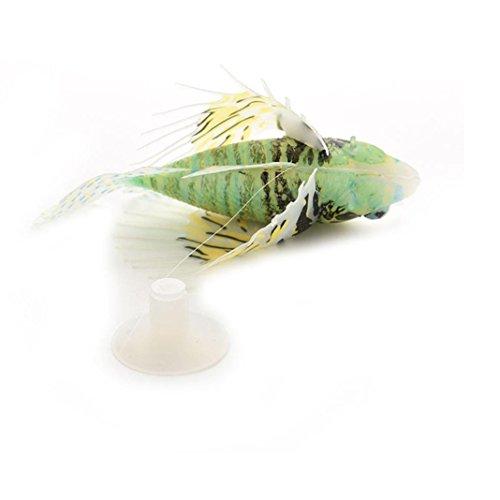 Vacally Artificial Fish Aquarium Decorative Lamp Virtual Ocean in Motion Aquarium Artificial Fish Silicone Lionfish Floating Decorations - Patrick House Rock Star
