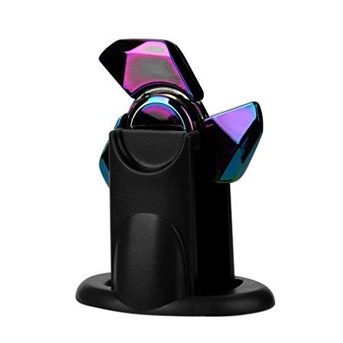 Price comparison product image Hand Spinner Holder,  Kenvenz Fidget Focus Toy EDC Finger Spin Gyro Mount Holder (Black)