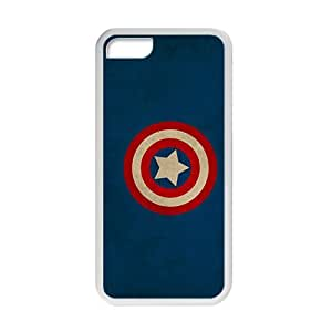 Cool-Benz Captain America shield Marvel Comics logos Phone case for iPhone 5c