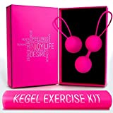 Ben Wa Kegel Balls – Free Training Resistance Exercise Band – Doctor Recommended Weights for Beginners & Advanced, Vaginal Tightening, Bladder Control, Women Pelvic Floor Recovery, Post Pregnancy Kit