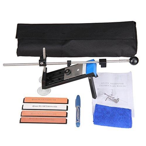 Professional Kitchen Knife Sharpener Kit Set Fixed-angle Knife Sharpener System with 4 Bigger Sharpening Stones