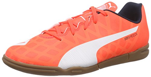 Puma evoSPEED 5.4 IT Jr, Unisex-Kinder Hallenschuhe, Orange (lava blast-white-total eclipse 01), 35 EU (2.5 Kinder UK)
