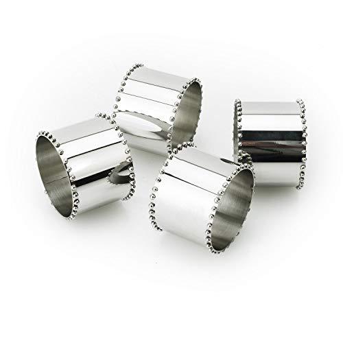 Tervy Beaded Stainless Steel Napkin Ring ()