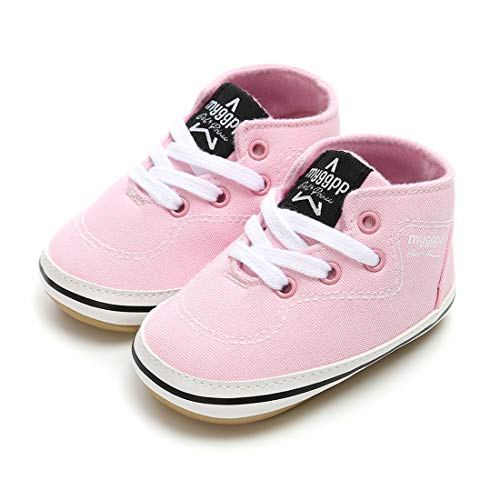 RVROVIC Baby Boys Girls Shoes Canvas Toddler Sneakers Anti-Slip Infant First Walkers 0-18 Months (13cm (12-18months), 6-Pink) by RVROVIC (Image #5)