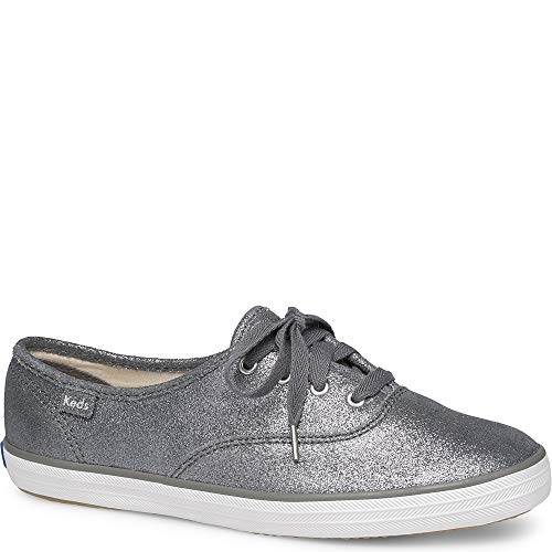 Keds Women's Champion Fashion Sneakers, Glitter Suede Dark Gray, 11 B(M) US