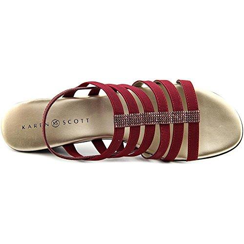 Karen Scott Estevee Toile Sandale Red tlm45k7A